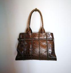 Τσάντα, γνήσιο δέρμα