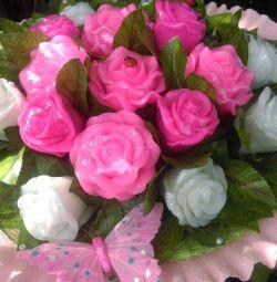 Букет троянд з мила