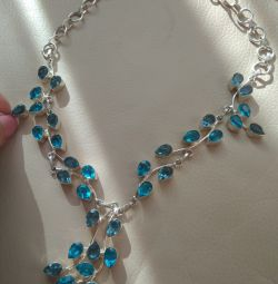 Necklace silver 925 topaz tanzanite