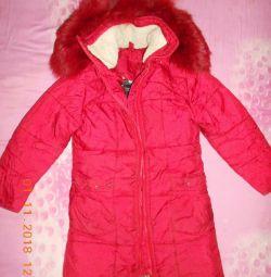 Winter coat 120-130 cm.