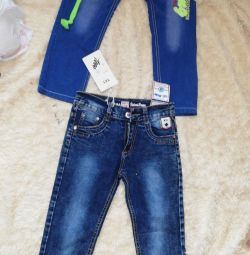 Jeans for a boy 5-6 years old