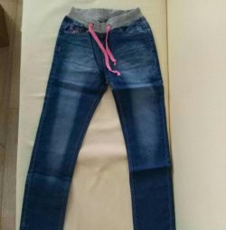 Children's jeans. New.140 growth