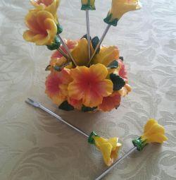 Set of decorative forks