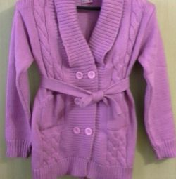 Cardigan knitted warm
