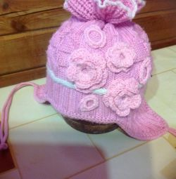 Pălărie roz deschisă pentru nou-născuți