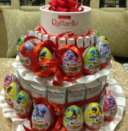 Confecționarea prăjiturilor din dulciuri și sucuri