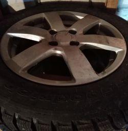 Winter tires on wheels 4 pcs 1 season used