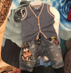 Vest and jeans