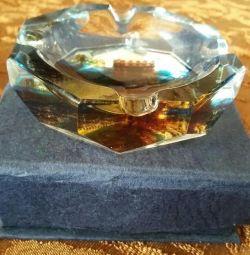 Ashtray miniature crystal souvenir gift