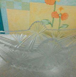Yeni kristal vazo (salata kasesi)