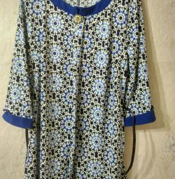 Blouse with strap and brooch new