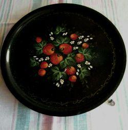 Zhostovo. Δίσκος Φράουλα.