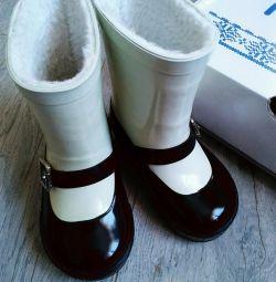 Νέες μπότες από καουτσούκ με γούνα Mursu