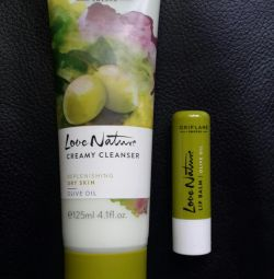 Cleansing milk and lip balm Oliva Oriflame