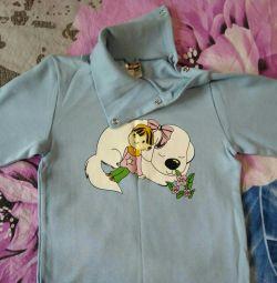 Tricou cu mânecă lungă nouă pentru fete, 98