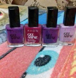 avon 100 nail polish for 4 pcs