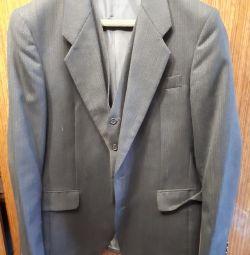 Мужской пиджак+жилетка