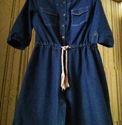 Ντένιμ φόρεμα 46-48
