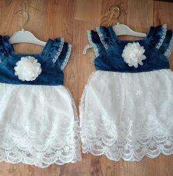 Шикарные платья для двойни
