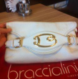 Original clutch bag made of genuine leather