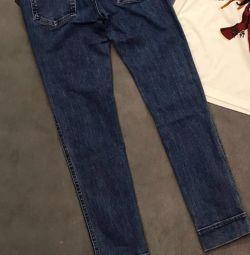 Louis Vuitton🌷Новые джинсы с лого бренда,ори