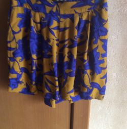 New Polish shorts-skirt, 100% silk, model 2018
