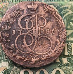 5 copecks 1786 EM