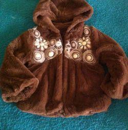Fur coat fashionista 1-1.5goda
