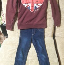 Sweatshirt with leggings