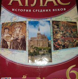 Orta Çağ 6 sınıfının tarihi üzerine Atlas