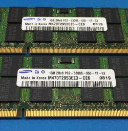 Μνήμη για φορητούς υπολογιστές ddr2 1 + 1 667 και 2 + 2 800