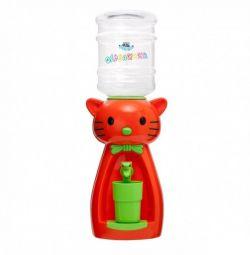 Children's water cooler, juice, bottle, glass