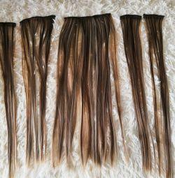Saç tokaları üzerinde saç