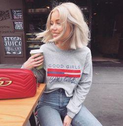 yeni kırpılmış sweatshirt