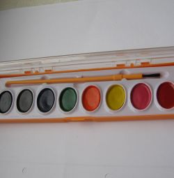 Краски акварельные новые