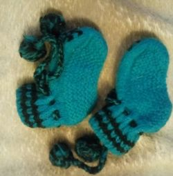 Woolen socks booties 3-5mes