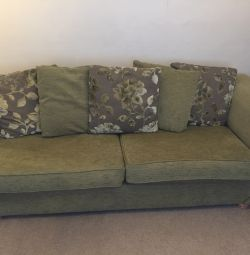 3/4 seat sofa snuggle seat + ottoman footstool