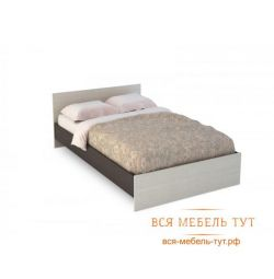 Basia Bed 1.2 LDSP (wenge / oak white) KP 556