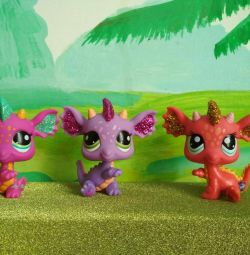 LPS ejderhalar, oyuncak küçük evcil hayvan dükkanı.