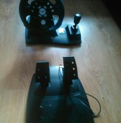Steering wheel + pedals