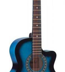 Șase chitare cu chitară acustică + carcasă