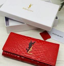 Μακρύ δερμάτινο πορτοφόλι γυναικών