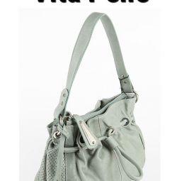Новая кожаная сумка Vita Pelle Италия