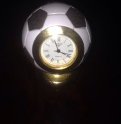Soccer ball with clock