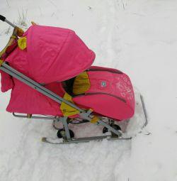 Sledge - Nick's stroller for children