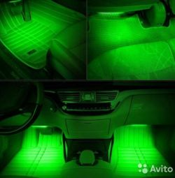 Car interior lighting - green