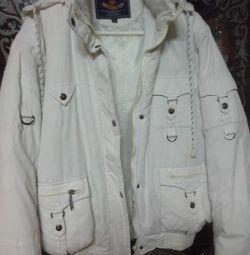 Winter jacket on feathers