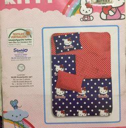 Постельное белье (КПБ) Hello Kitty новый