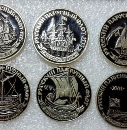 Badges Russian Sailing Fleet set of 9 pieces of the USSR