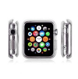Чехол силиконовый прозрачный для Apple Watch 38 mm